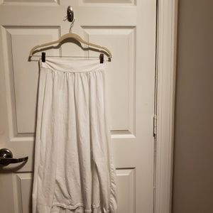 White New York & Company Maxi Skirt